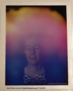 Aura-Foto 1 Vor der Bespielung mit Kristallinstrumenten 27.10.2019